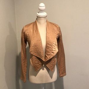 Alice Moon gold cropped open jacket